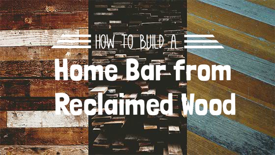 home bar from reclaimed wood