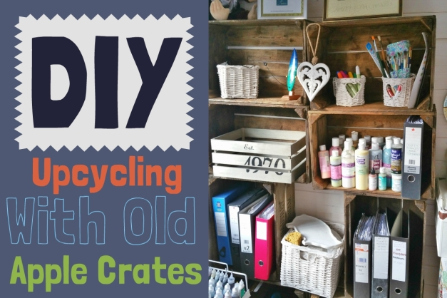 upcycling with old apple crates