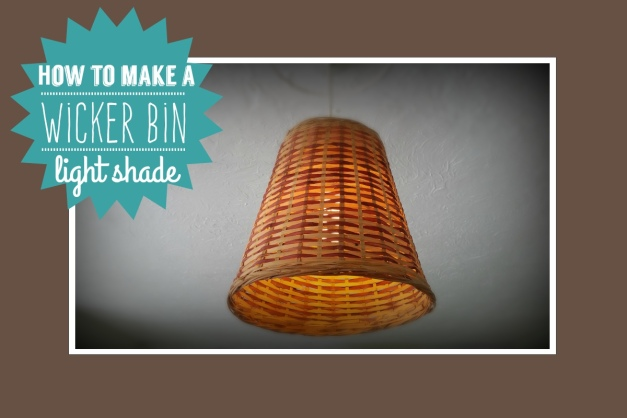 Wicker lightshade